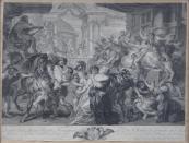 Pierre Francois Martenasie podle Rubense - Únos Sabinek