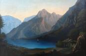 Alpská romantická krajina