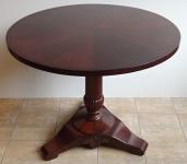 Kulatý sklápěcí mahagonový stůl - Biedermeier
