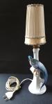 Porcelánová lampa s pávem - Československo