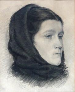Portrét ženy v šátku
