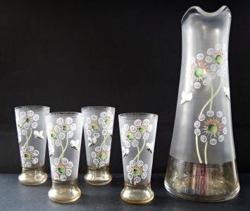 Džbán a čtyři sklenice - Pampelišky a včely (1).JPG