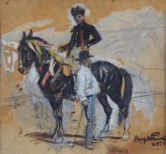 Augustin Němejc - Muž v kroji na koni (2).JPG