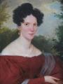 Franz Schrotzberg - Portrét dámy v červených šatech (4).JPG