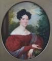 Franz Schrotzberg - Portrét dámy v červených šatech (3).JPG