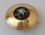 Kulatá zlatá brož s hvězdou (1).JPG