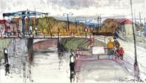 Václav F. Ulšmíd - Most v přístavu (3).JPG