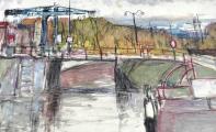 Václav F. Ulšmíd - Most v přístavu (5).JPG