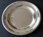 Kulatý stříbrný empírový talíř - Francie 1809 - 1819 (1).JPG