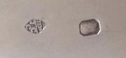 Kulatý stříbrný empírový talíř - Francie 1809 - 1819 (5).JPG