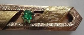 Zlatá brož se zeleným kamínkem - Vídeň (3).JPG