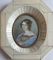 Miniatura dívky s modrým šálem, ve slonovinovém rámečku (1).JPG