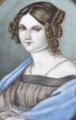 Miniatura dívky s modrým šálem, ve slonovinovém rámečku (3).JPG