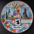 Velký talíř s pamětihodnosti Chodska - Kamenický, Klenčí (1).JPG