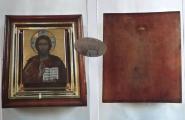 Ikona ve zlaceném rámu a dřevěné skříňce - Rusko (5).JPG