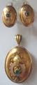 Zlatý přívěšek a zlaté náušnice - biedermeier, Vídeň (1).JPG