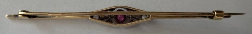 Zlatá brož s diamantem a ametystem (4).JPG