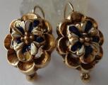 Zlaté náušnice, s emaily - Biedermeier (2).JPG