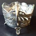 Secesní stříbrná miska, se skleněnou vložkou (3).JPG