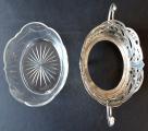 Secesní stříbrná miska, se skleněnou vložkou (4).JPG