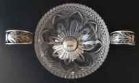 Empírová stříbrná miska, s broušeným sklem - Berlín (3).JPG