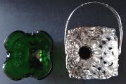 Biedermeierový stříbrný košíček, se zeleným sklem - Německo (3).JPG