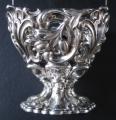 Biedermeierový stříbrný košíček, se zeleným sklem - Německo (4).JPG