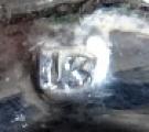 Biedermeierový stříbrný košíček, se zeleným sklem - Německo (6).JPG