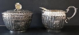 Konvice s konvičkou a cukřenkou, stříbrné - Schleissner, Hanau (5).JPG