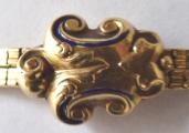 Zlatý dvojitý řetízek, s kartuší - biedermeier (5).JPG