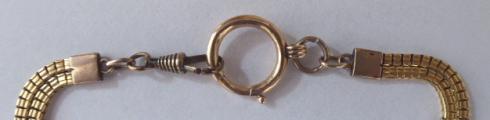 Zlatý dvojitý řetízek, s kartuší - biedermeier (3).JPG