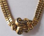 Zlatý dvojitý řetízek, s kartuší - biedermeier (2).JPG