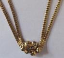 Zlatý dvojitý řetízek, s kartuší - biedermeier (4).JPG