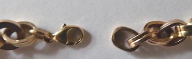 Zlatý náramek s kroužky a ovály - Leopold Gugg, Vídeň (4).JPG