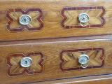 Dubová intarzovaná komoda, s nástavcem - 18. století (4).JPG