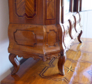 Dubová intarzovaná komoda, s nástavcem - 18. století (6).JPG