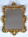 Dřevěné zlacené zrcadlo, s barokní řezbou - Haff & Pisa (5).JPG