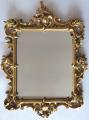 Dřevěné zlacené zrcadlo, s barokní řezbou - Haff & Pisa (1).JPG