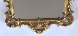 Dřevěné zlacené zrcadlo, s barokní řezbou - Haff & Pisa (3).JPG