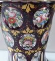 Sklenice ( pohár ) rubínová s malovanými růžemi a květy (3).JPG