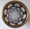 Sklenice ( pohár ) rubínová s malovanými růžemi a květy (4).JPG