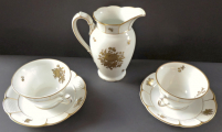 Konvička a dva šálky, zlaté kvítky - Rosenthal (2).JPG