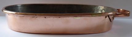 Měděný oválný pekáč, s úchytem - Evropa 1830 - 1890 (1).JPG