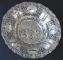 Kulatá velká stříbrná dekorativní mísa - styl Hanau, Německo (1).JPG