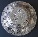 Kulatá velká stříbrná dekorativní mísa - styl Hanau, Německo (6).JPG