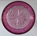 Karafa z broušeného čirého a růžového skla (5).JPG