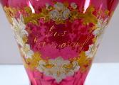 Biedermeierová sklenice s rozvilinami a nápisem - Z přátelství (3).JPG
