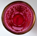 Biedermeierová sklenice s rozvilinami a nápisem - Z přátelství (4).JPG