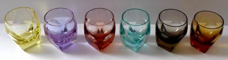 Šest barevných skleniček Moser, Bar, R. Eschler (2).JPG