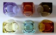 Šest barevných skleniček Moser, Bar, R. Eschler (4).JPG